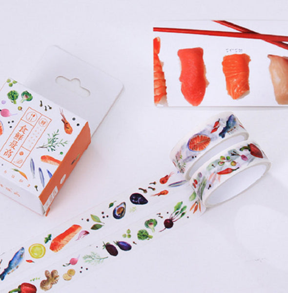 Food Washi Tape, Vegetables Masking Tape, Herbs Decorative Tape, Planner Stickers-T003