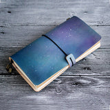 Light Grey Leather Journal Midori Traveler's Notebook journals for men Leather Notebook Retro leather diary