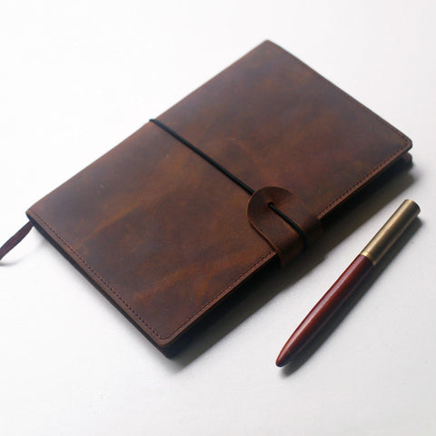 personalized Leather A5 Notebook Cover, larger Moleskine leather cover, Journal Cover,Moleskine notebook cover organizer
