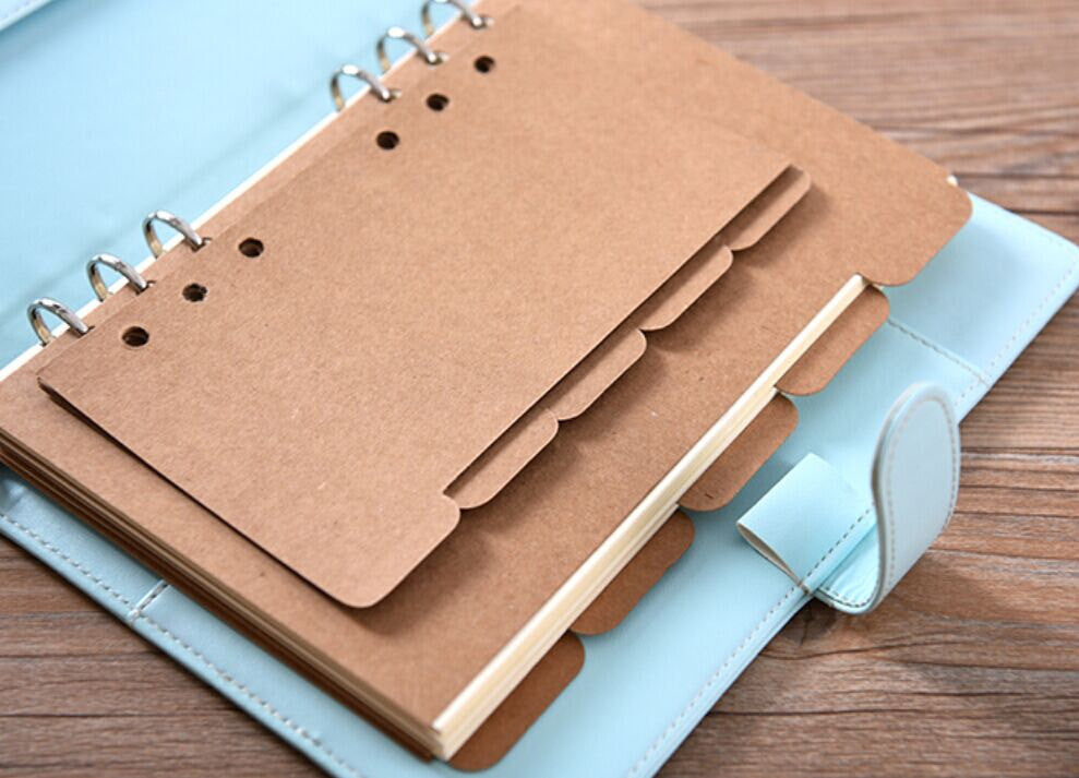 Kraft dividers/A5 index/ A6 planner dividers/Dashboard/ brown dividers/AC019