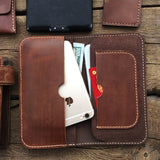Vegetable tanned leather iPhone case/ Custom phone case/retro wallet case/rustic iPhone wallet