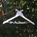 Rustic Wedding Dress Hanger Personalized Bride Dress Hanger Wedding Coat Hanger