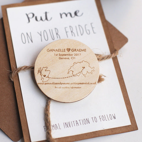 Personalized save the date Magnet/state map save the date/wood magnet/Engraved Magnets