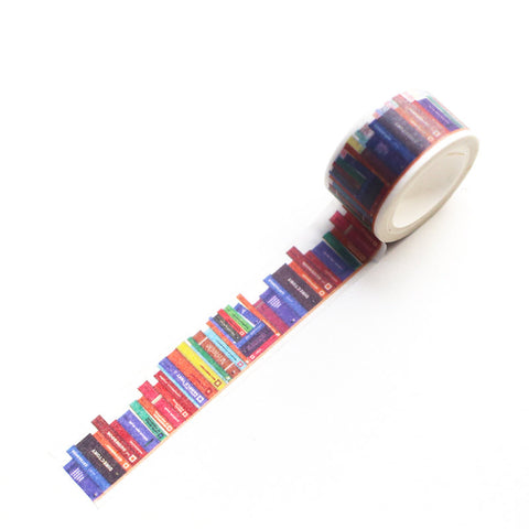 Library of Books Washi Tape, Masking Tape, Decorative Stickers-T029