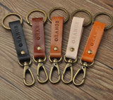 FREE INITIALS ENGRAVE/Personalized genuine leather keychain/ key organizer/gift for him/birthday gift idea/custom key chain