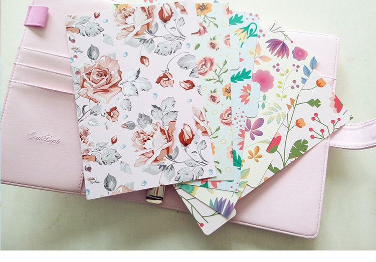 Floral dividers/A5 index/ Personal size planner dividers/Dashboard