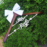 Personalized Wedding hanger with name, Mrs Wedding Dress Hanger,Wood Bridal Last Name Hanger,Bridal Shower Gift,rustic wedding decor,Mother of the Bride's