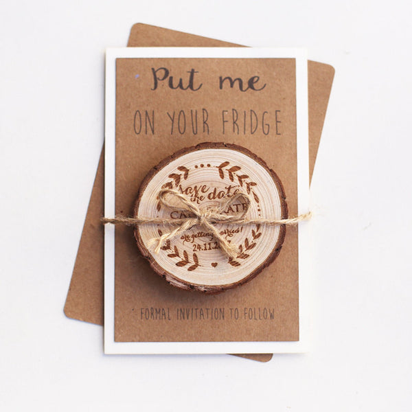 Arrow Save the Date Magnet, Rustic Save the Dates