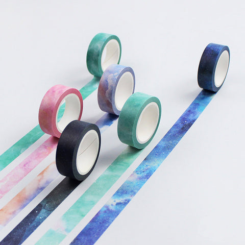 Colorful Galaxy washi tape/Starry masking tape/ planner sticker