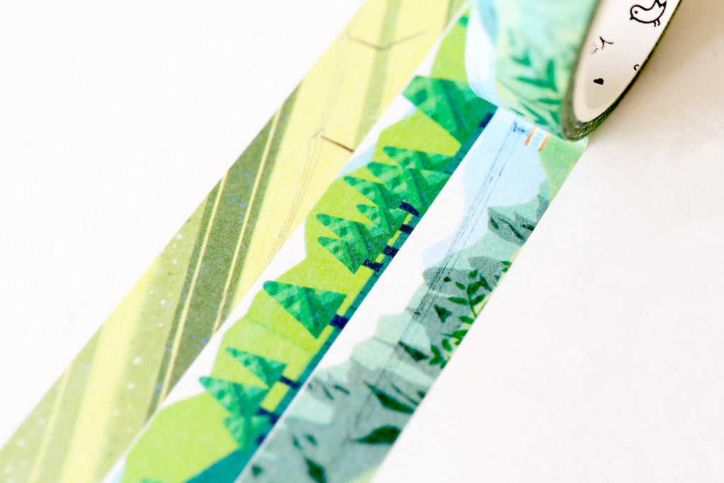 Grassy green Washi Tape/green field Washi tape/ Masking tape/ japanese washi tape/Planner Supplies/OT0102