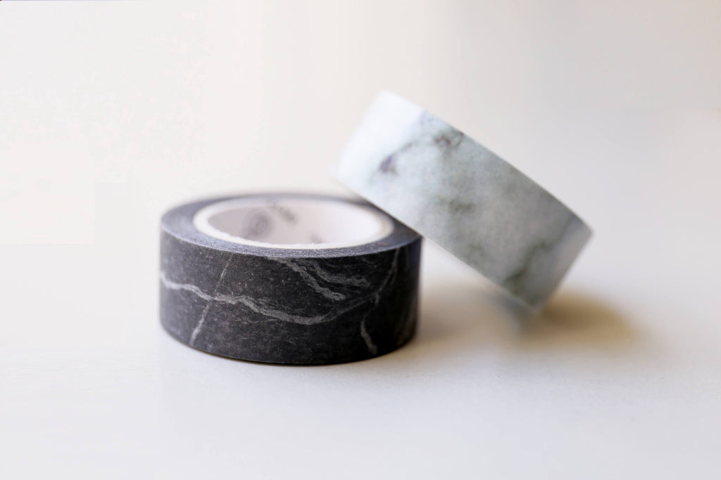 Set of 2 Marble Washi Tapes/ Floral Washi Tape/Striped Washi / Masking tape/ japanese washi tape/Planner Supplies/OT068