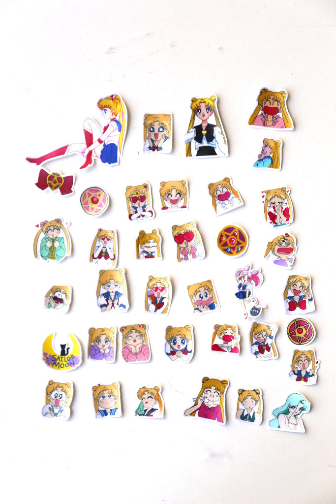 Sailor Moon  sticker set/ Planner Stickers/ Filofax Stickers/Lap top stickers/Scrapbook Sticker