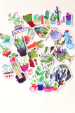 cactus stickers set/ Planner Stickers/ Filofax Stickers/Cacti Sticker Flakes/ Desert Watercolor stickers/Planters Stickers/ Succulents/OS002