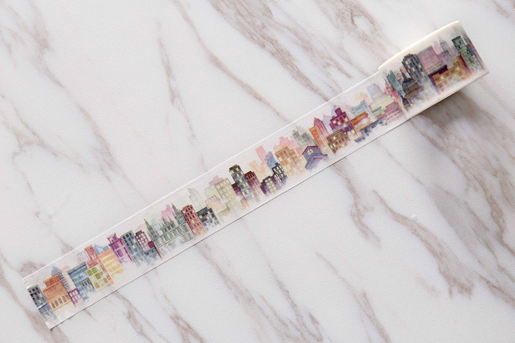 Gog City  Washi Tape / fog City Masté Masking Tape/Building washi tape /Retro Japanese stationery /wide washi tape