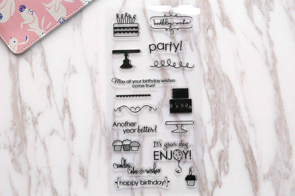 Happy birthday  clear  Stamp/Party clear  Stamps/birthday wishes  clear stamp/Travel Stamps/Journal Accessories clear stamp