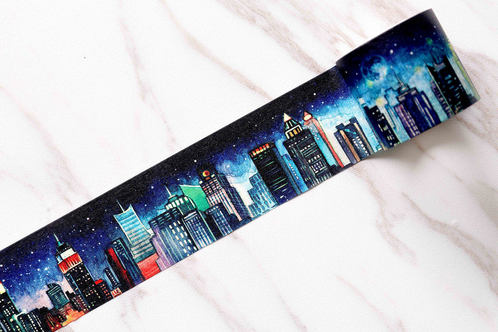 New York Stries Washi Tape /  City Masté Masking Tape/dark Building washi tape /Retro Japanese stationery /wide washi tape