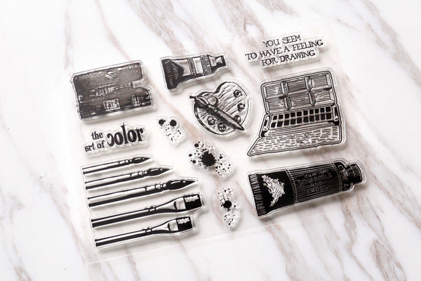 Painting tools Clear Rubber Stamp/artist Clear Stamp/journal accessaries