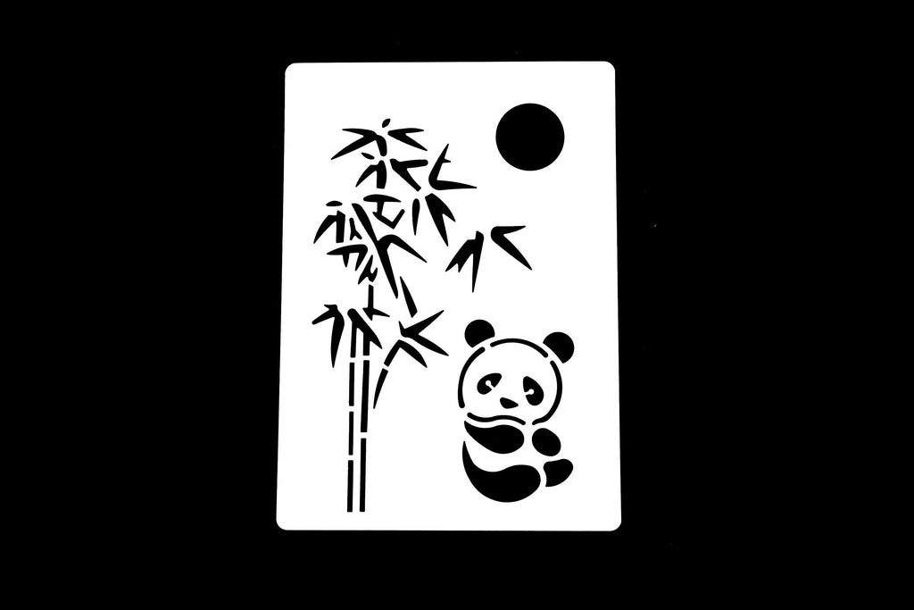 Plastic Panda Stencil/Bamboo Forest Planner Stencil/Notebook Stencil/sun  stencil /wreath stencil /Bullet Journal Stencil/