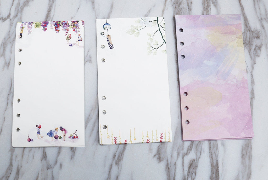 personal  Planner Inserts /colorful blank Inserts /personal size planner insert /leaves and grape planner  insert /colorful blank insert