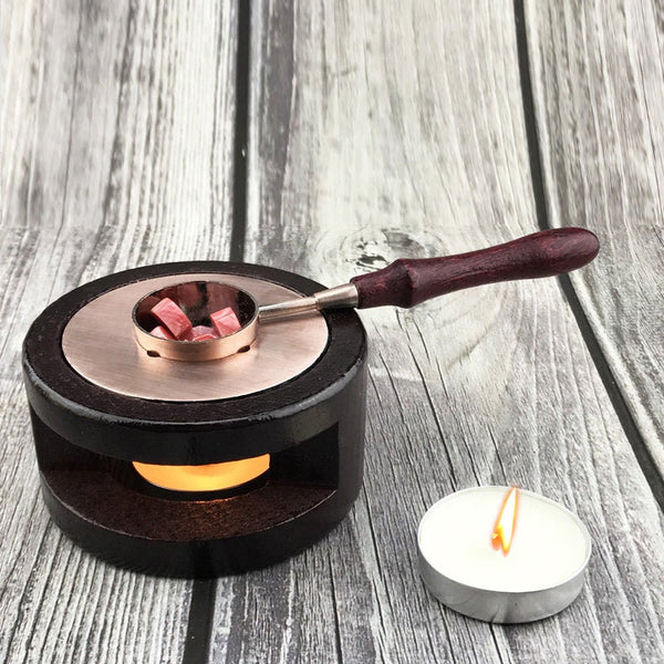 Wooden Melting Furnace Tool Stove Tool /Wax Sealing Stove/  Brass Wax Spoon/wax sealing/Wax Seal tool