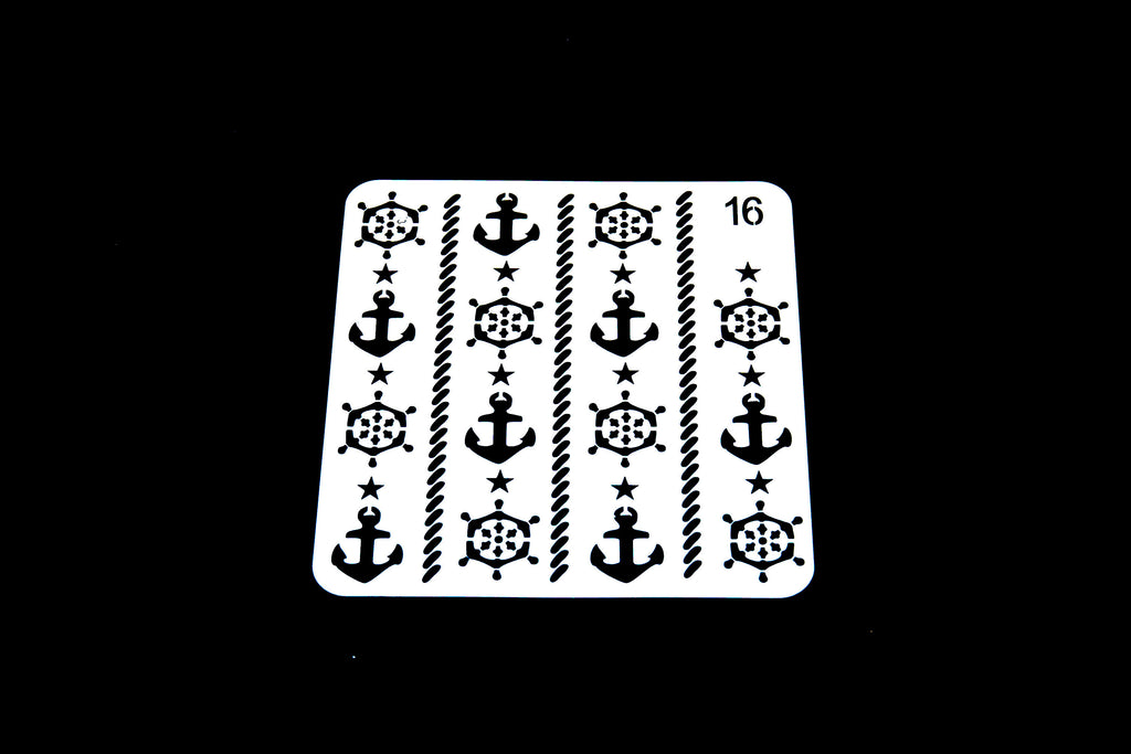 anchor Bullet Journal Stencil/Nautical stencil/compass template/Notebook Stencil /Bullet Journal Stencil/ plastic Stencil