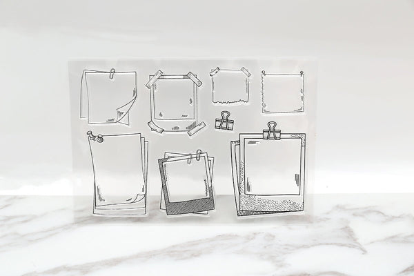 Memory note Clear Rubber Stamp/Sticky Tools Clear Stamp/transparent clear stamp/Masking clear stamp