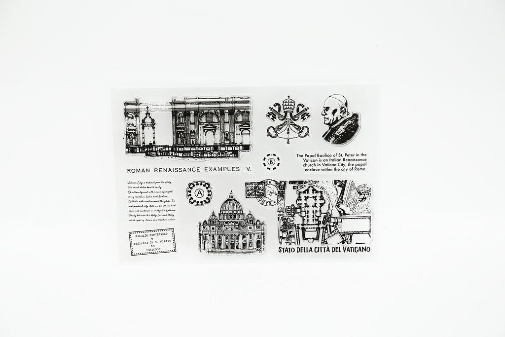 Roma Transparent Stamp/Roma Clear Stamp Set /Planner stamp/journal stamp/