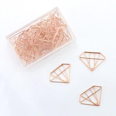 Rose gold diamond paper clips / Cute Paper Clips/ girly Binder Clips/Metal Paper Clip/Office Supplies/Office Supplies