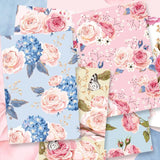 The roses Planner dividers/Flowers in full bloom  plastic  A5 planner dividers/Painting flower  planners dividers
