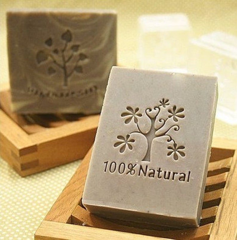 Natural Tree Soap Stamp 100%  Seal Mold Tree Soap Stamp Acrylic soap stamp tree