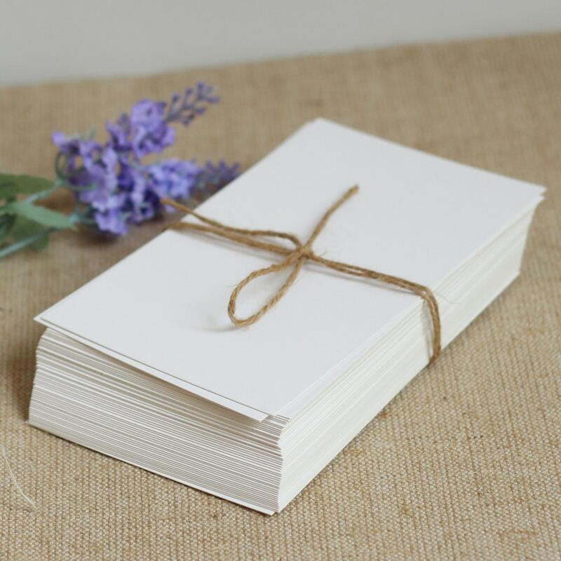 4X6 flat Blank white Paper Cards, 100pcs Thank you card pack, Blank Business Cards, Wedding place cards