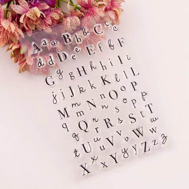 Letters  Alphabet Clear Rubber Stamps/capital letter clear stamp/lower case letter clear stamp /Transparent Clear Stamps