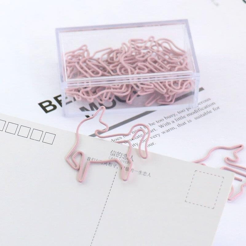 Unicorn Paper Clips, pink unicorn Metal Paper Clip,Binder Clips, Office Supplies,Planner Accessory