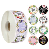 Thank you stickers Tape/floral thank you roll tape /business stickers/ gift wrapping stickers 500pcs