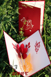 Butterfly and flower  in Pop up card