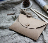 Set 25 Handmade wedding envelopes.Six colors. Heart bottom.Heavyweight paper