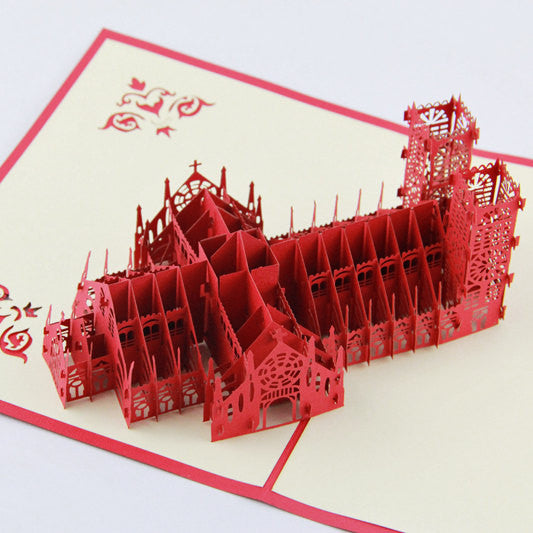 3D Westminster Abbey in London Pop up card gift