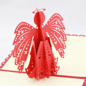 Angel wings  pop up card -greeting card