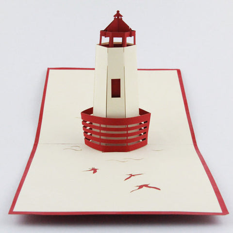 3d lighthouse pop up card greeting card for friend wedding 3d lighthouse pop up card greeting card for friend wedding invitation card birthday invitation card stopboris Image collections