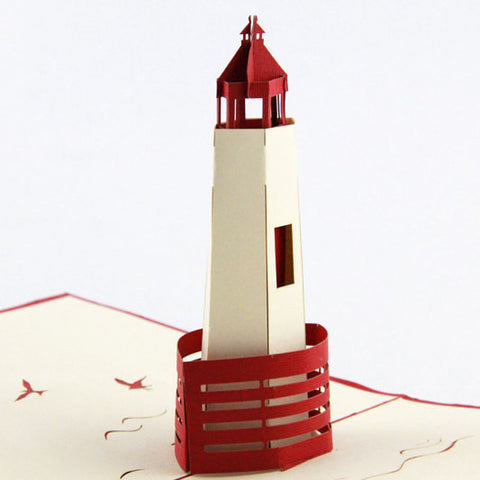 3d Lighthouse Pop Up Card Greeting Card For Friend Wedding
