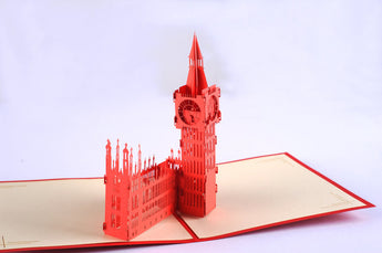 Big ben pop up card/ 3d card/ London card