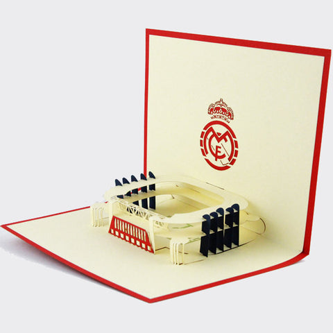 Real Madrid Stadium    pop up card/ 3d  card/Real Madrid souvenir
