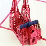 AI-  Kolner Dom -Cologne Cathedral pop up card 3D card laser cut