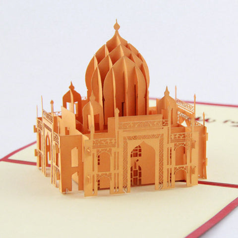 Indian Taj Mahal  pop up card -greeting card 3d laser cut souvenir card