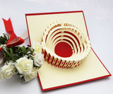Colosseum in Rome POP UP card Handmade 3d card laser cut