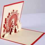 Ferris wheel Pop up card 3d card laser cut