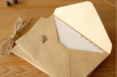 50 of set Kraft Envelopes - triangle flap - for A6 cards and 4x6 photos