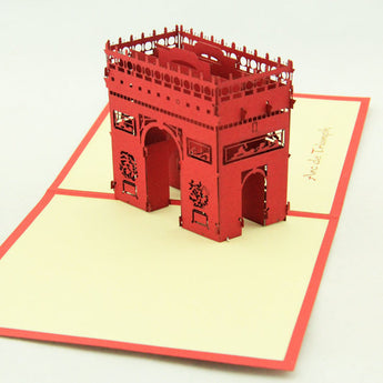 Arch of triumph pop up card 3d card Paris card gift card