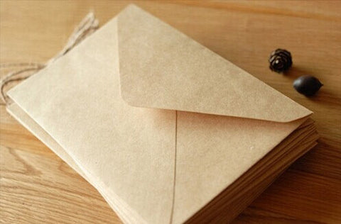 50 of set Kraft Envelopes - triangle flap - for A6 cards and 4x6 ...