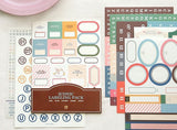 Labeling Sticker Pack // Scrapbooking embellishment // DIY stickers/ Iconic Labeling Sticker
